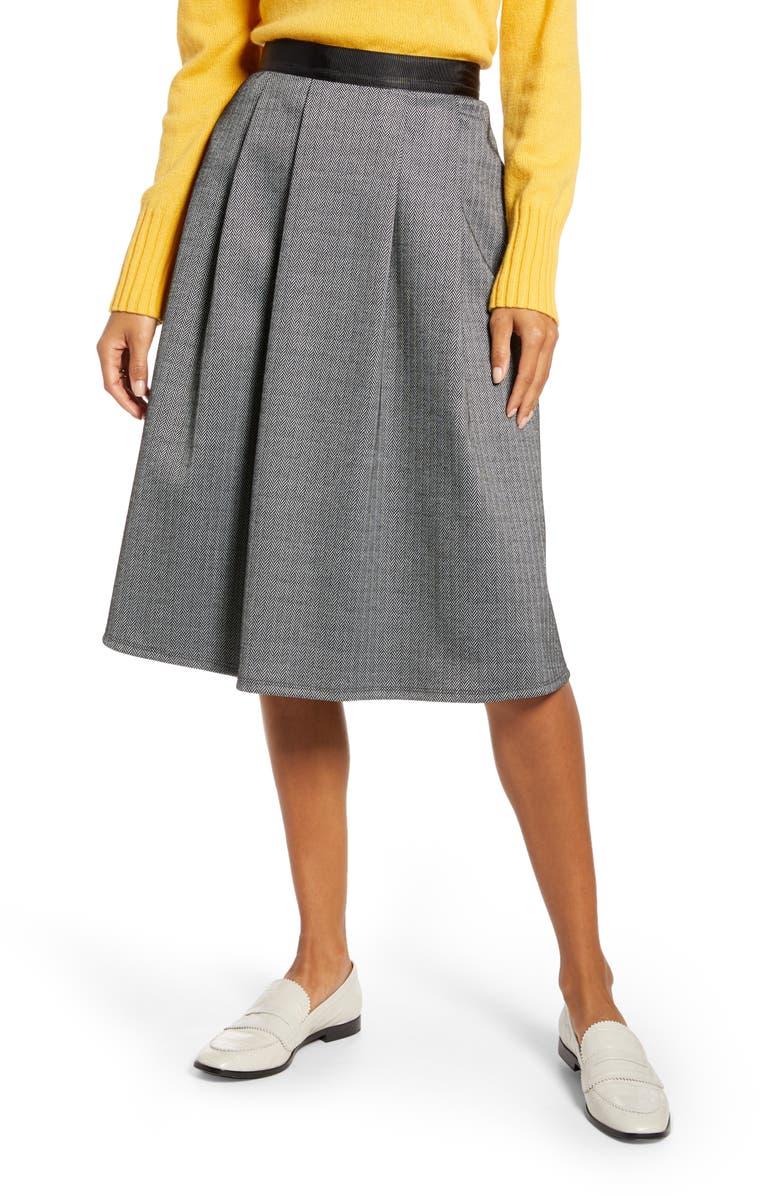 1901 Herringbone Knit Skirt, Main, color, 411