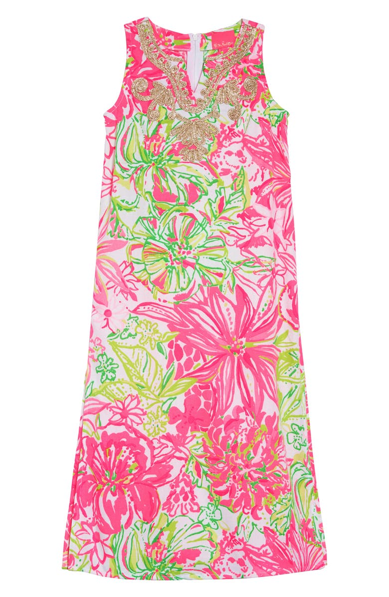 LILLY PULITZER<SUP>®</SUP> Mini Carlotta Maxi Dress, Main, color, RESORT WHITE KOALA ME MAYBE