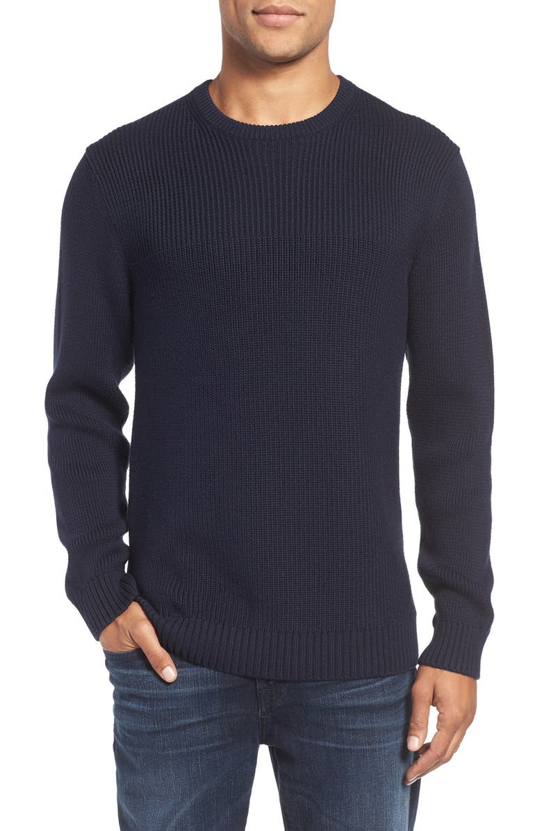 RODD & GUNN 'Edmonton' Crewneck Sweater, Main, color, NAVY
