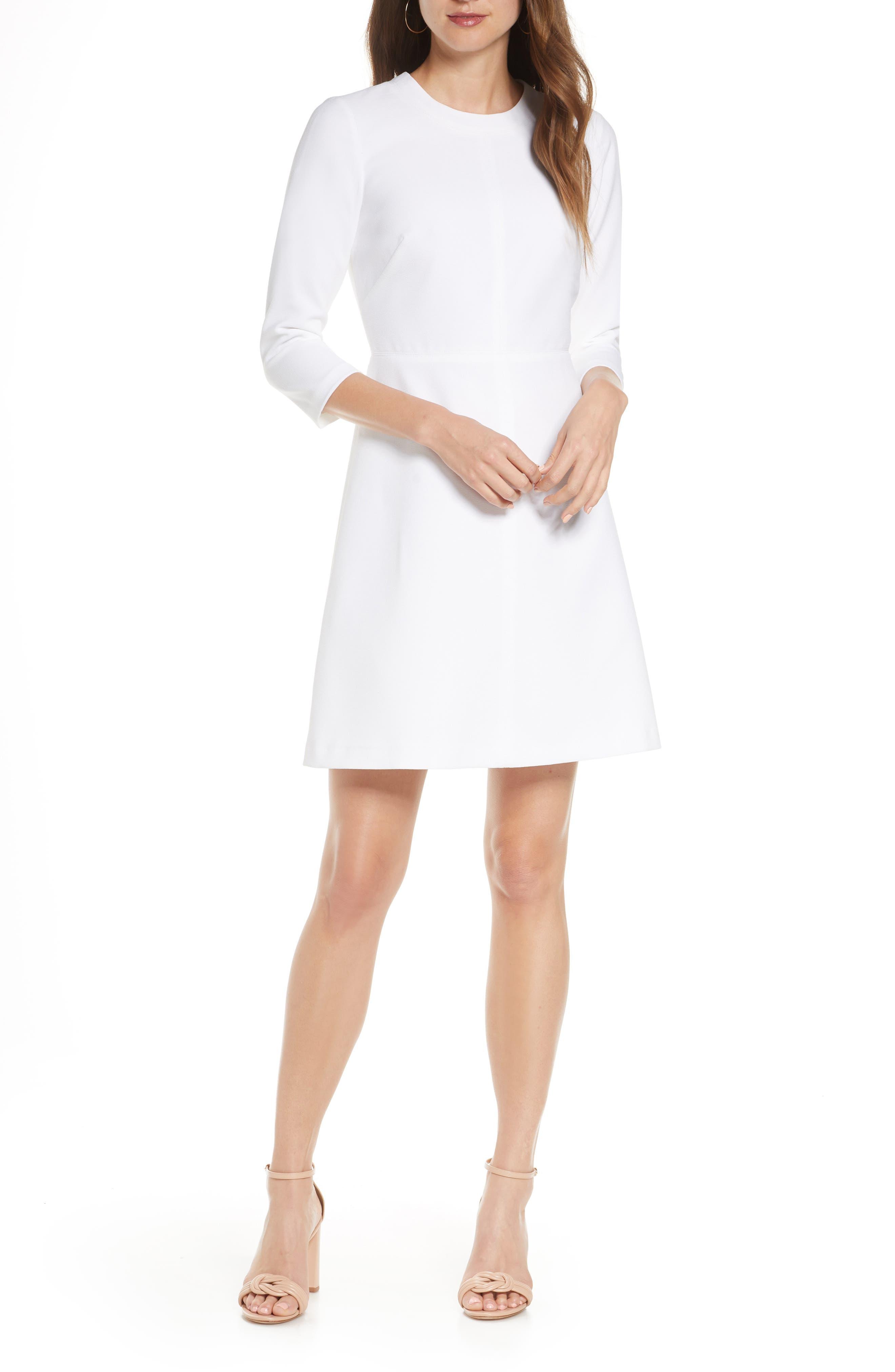 Eliza J Stretch A-Line Dress | Nordstrom