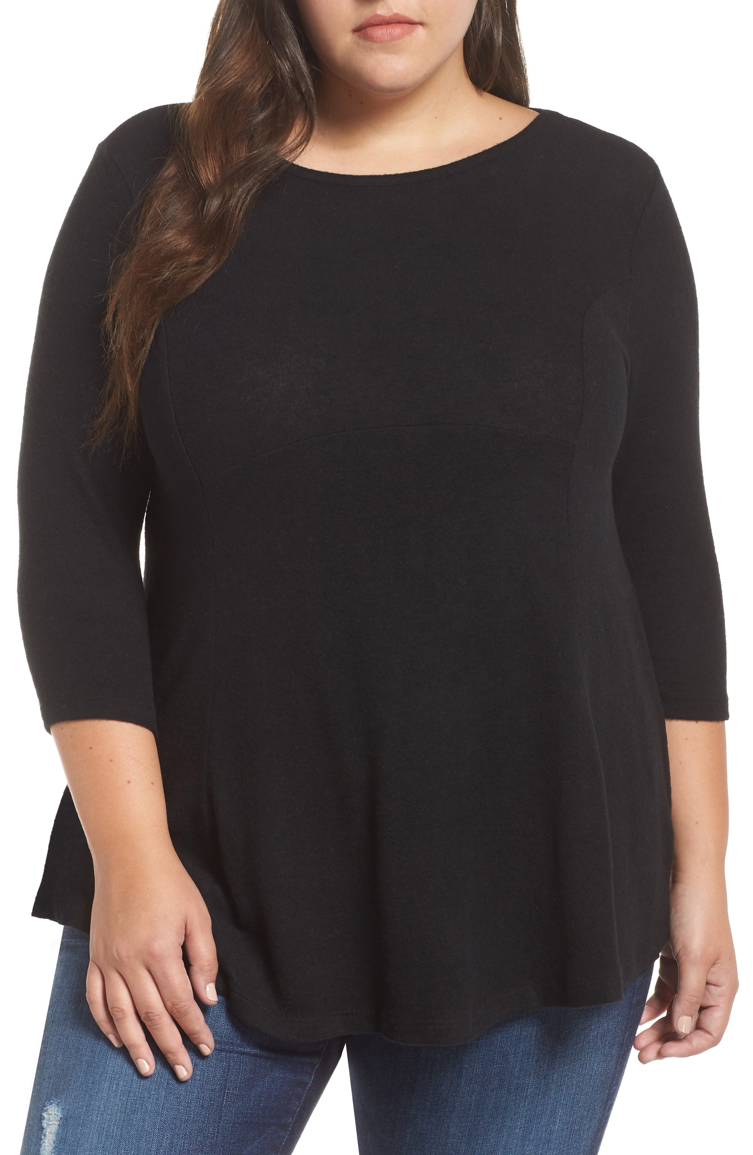 Brushed Knit Babydoll Top
