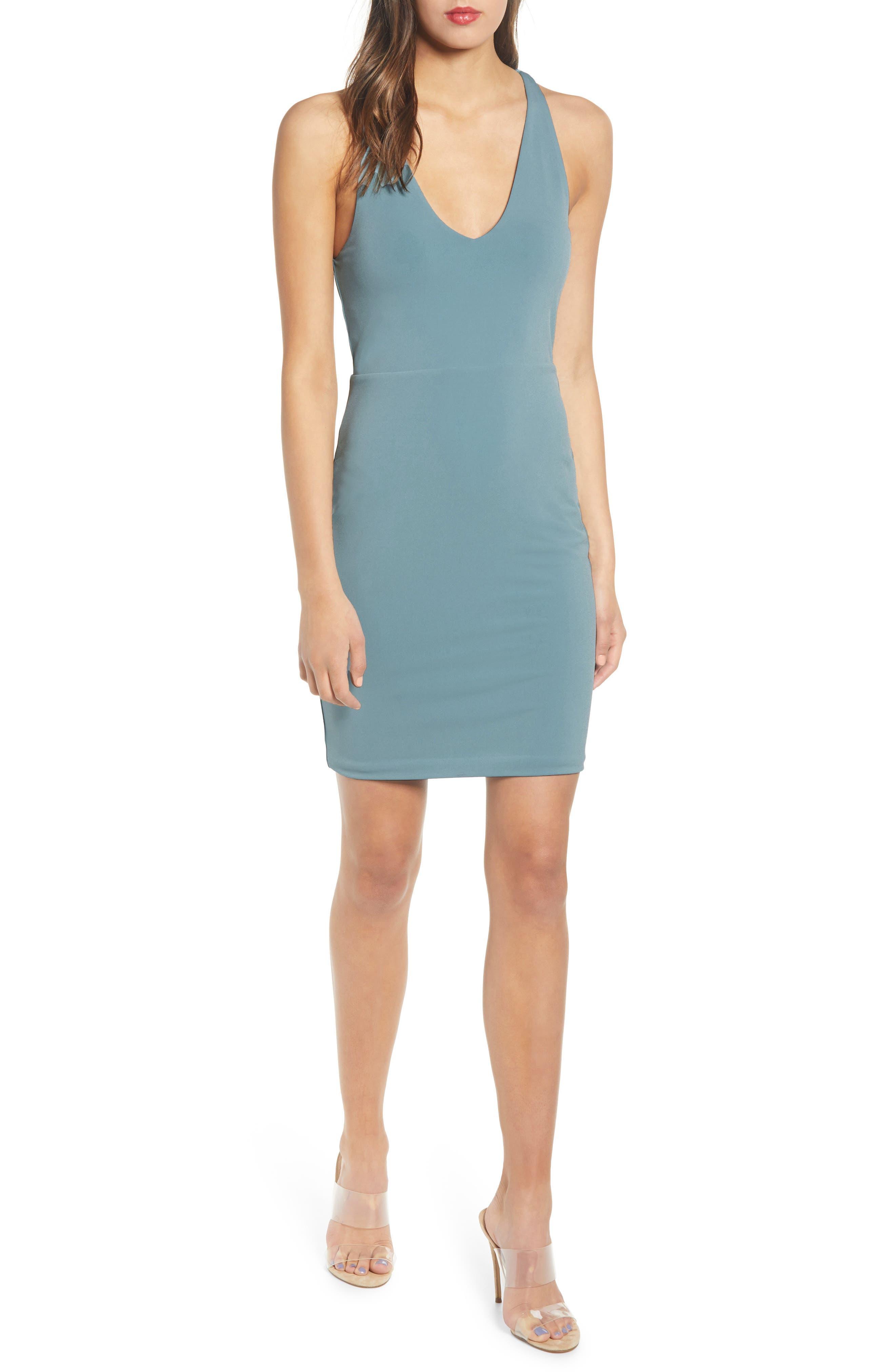 ,                             Racerback Body-Con Dress,                             Main thumbnail 32, color,                             450