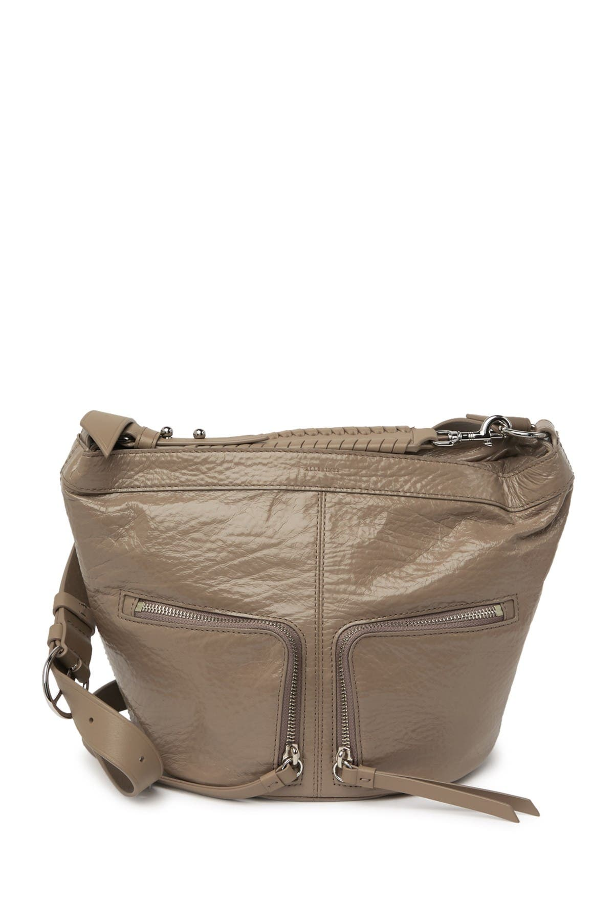 Image of ALLSAINTS Fetch Leather Crossbody Bag
