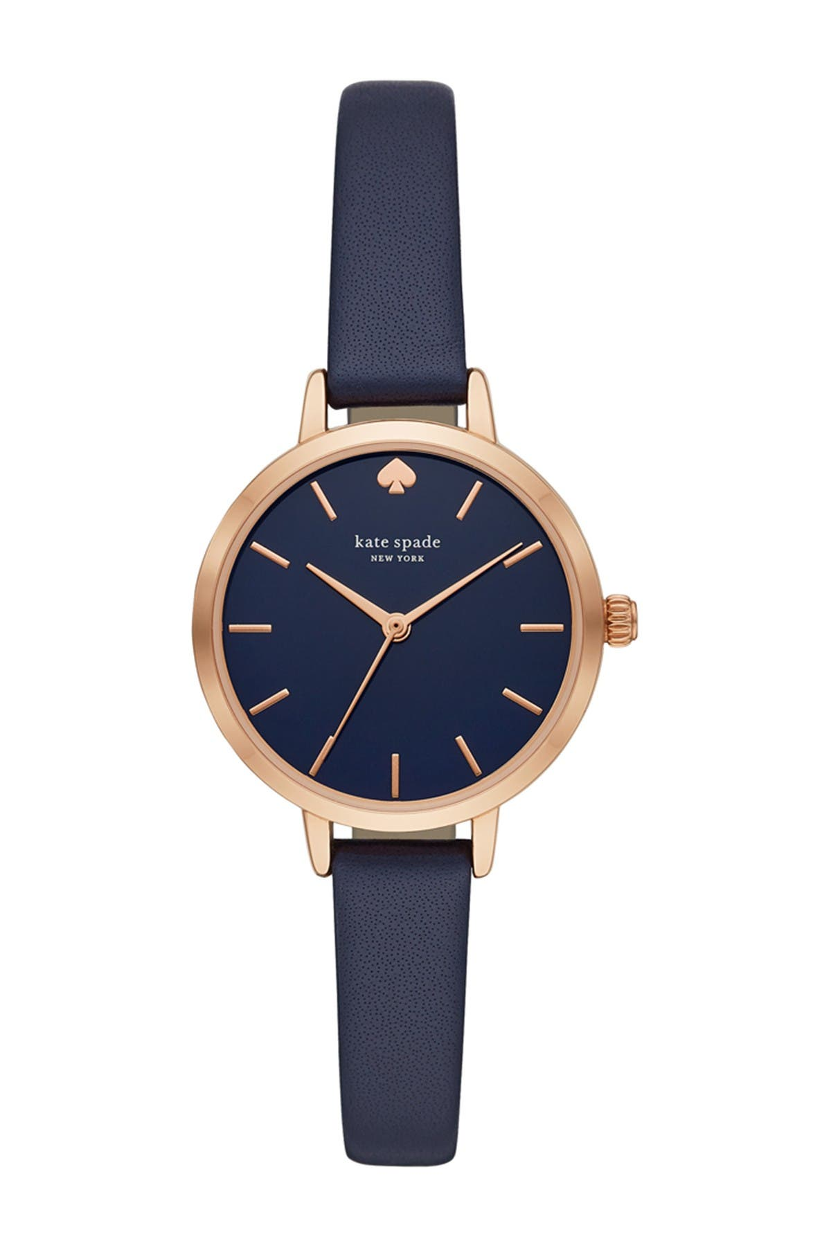 Image of kate spade new york women's metro leather strap watch, 30mm