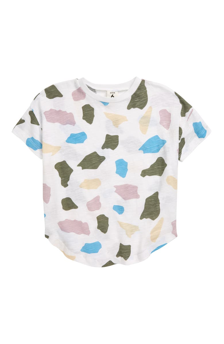 STEM Electric T-Shirt, Main, color, WHITE MULTI ROCKS