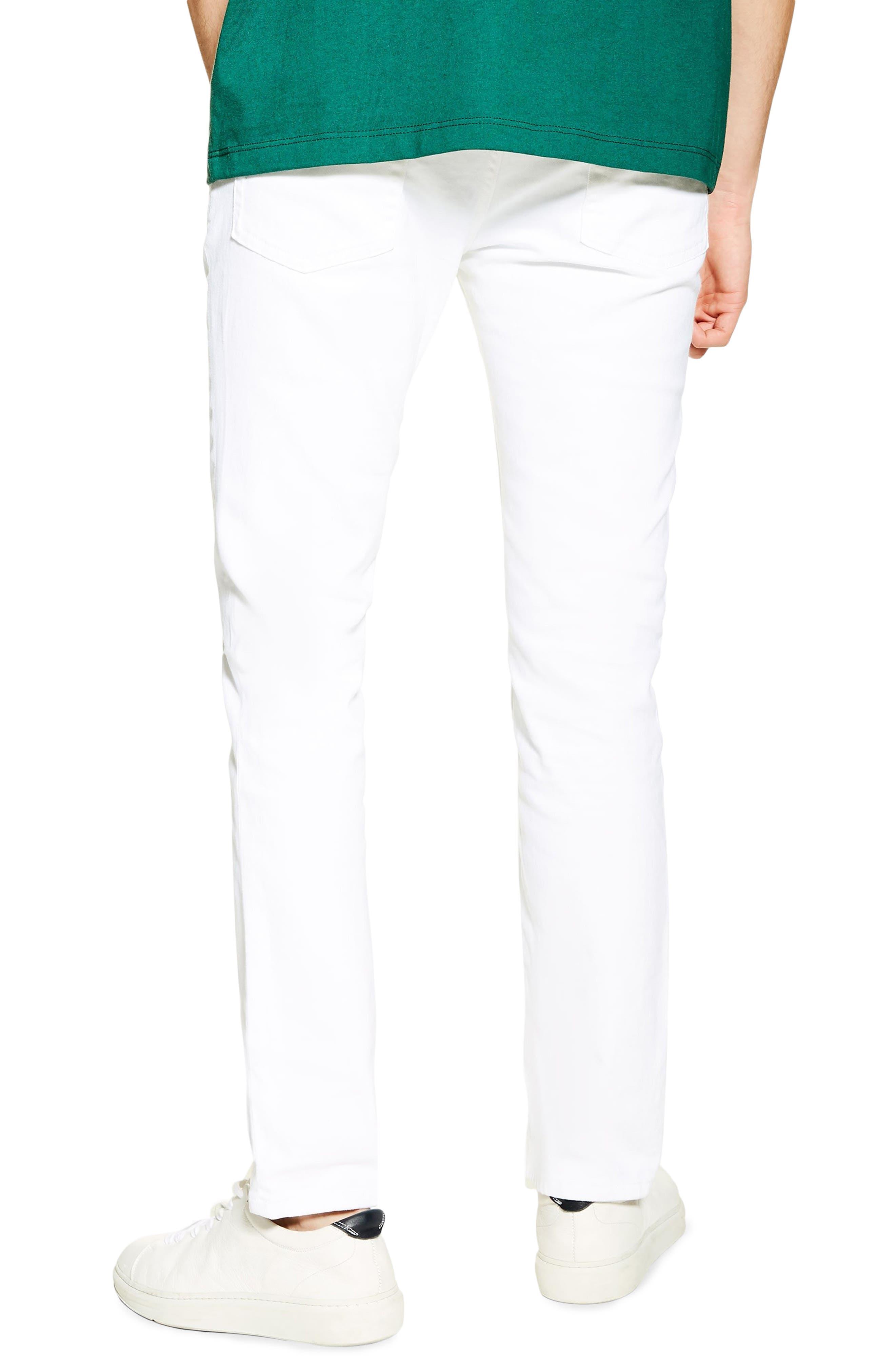 ,                             Slim Fit Stretch Denim Jeans,                             Alternate thumbnail 2, color,                             WHITE