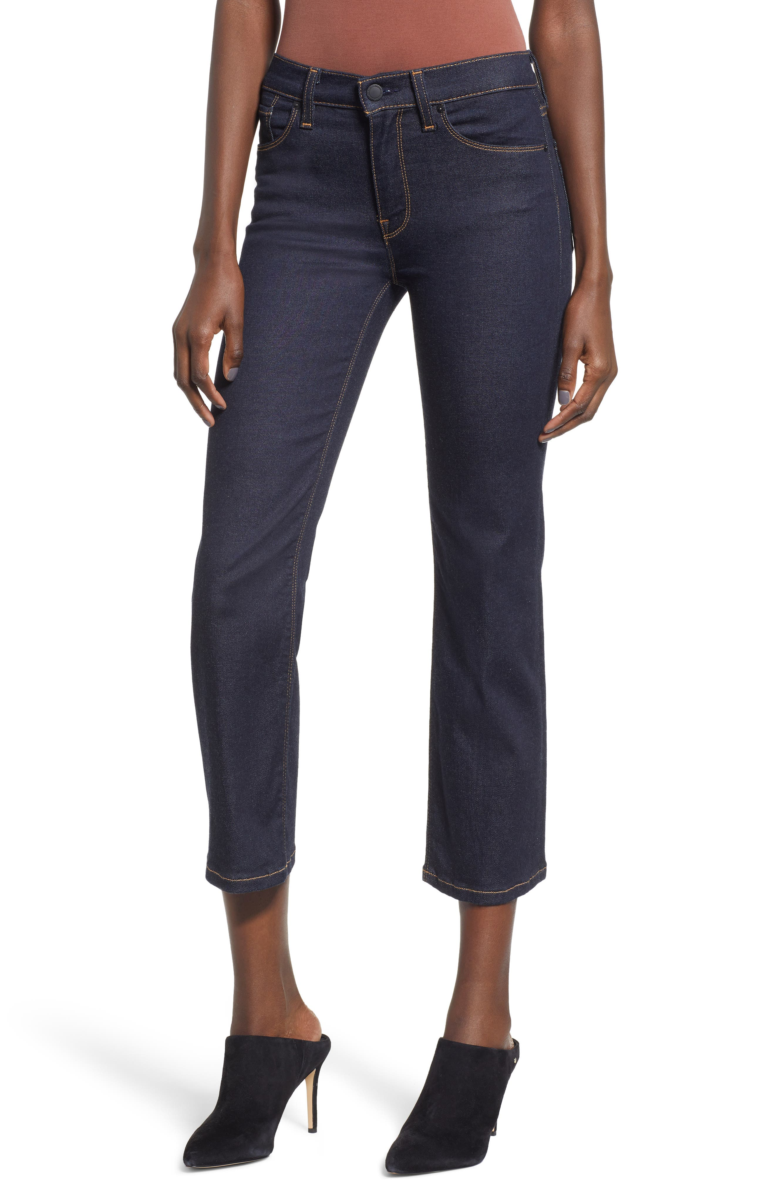 Stella Crop Straight Leg Jeans, Main, color, 402