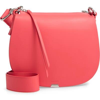 Allsaints Captain Round Leather Crossbody Bag - Pink