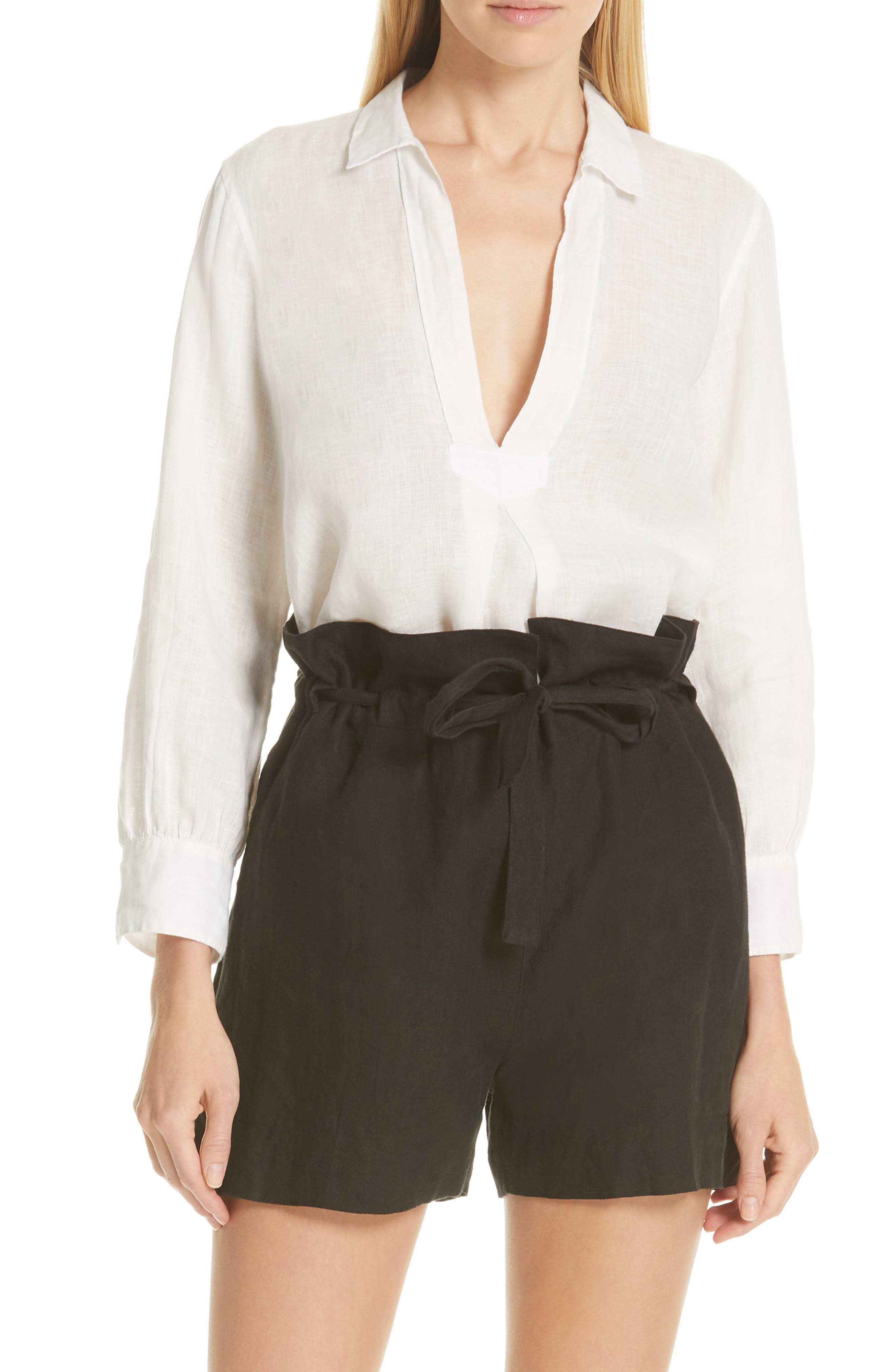 ,                             Emma Linen Shirt,                             Main thumbnail 1, color,                             NATURAL