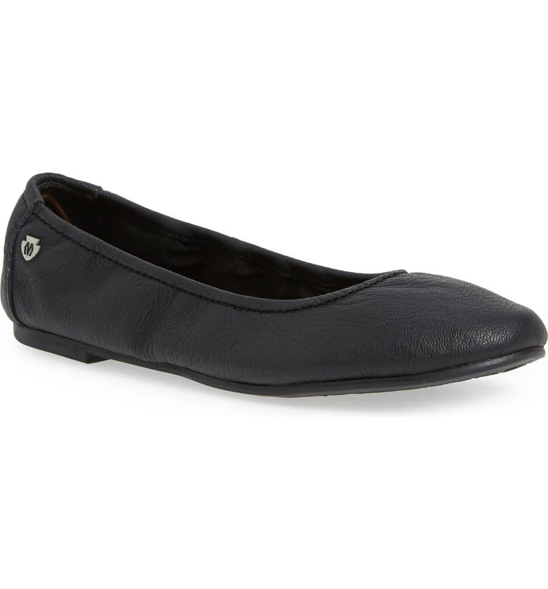 MINNETONKA Anna Ballerina Flat, Main, color, BLACK