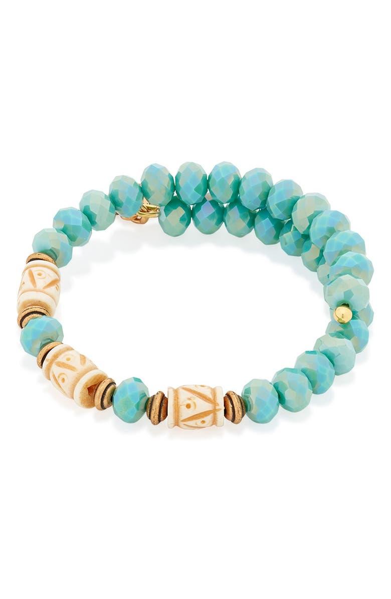 ALEX AND ANI 'Deep Sea' Wrap Bracelet, Main, color, 300