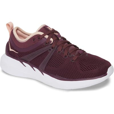 Hoka One One Tivra Running Shoe, Burgundy