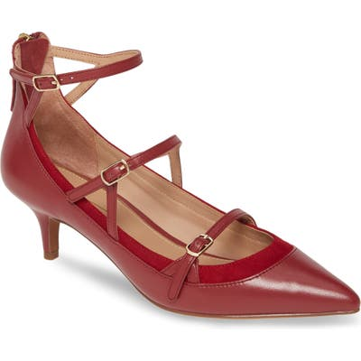 Linea Paolo Cathy Pump- Burgundy