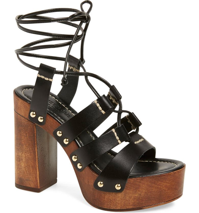 KENNETH COLE NEW YORK 'Kenzie' Lace-Up Sandal, Main, color, 001