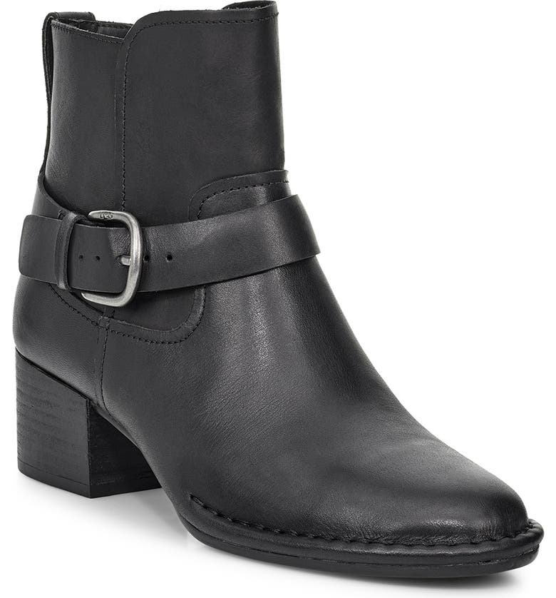 UGG<SUP>®</SUP> Atwood Block Heel Bootie, Main, color, BLACK LEATHER