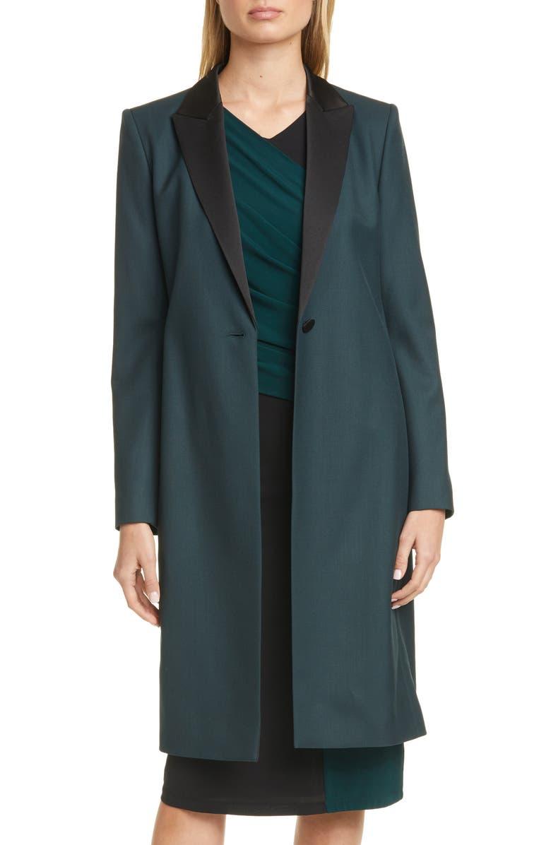 BOSS Cathall Tuxedo Coat, Main, color, PINE