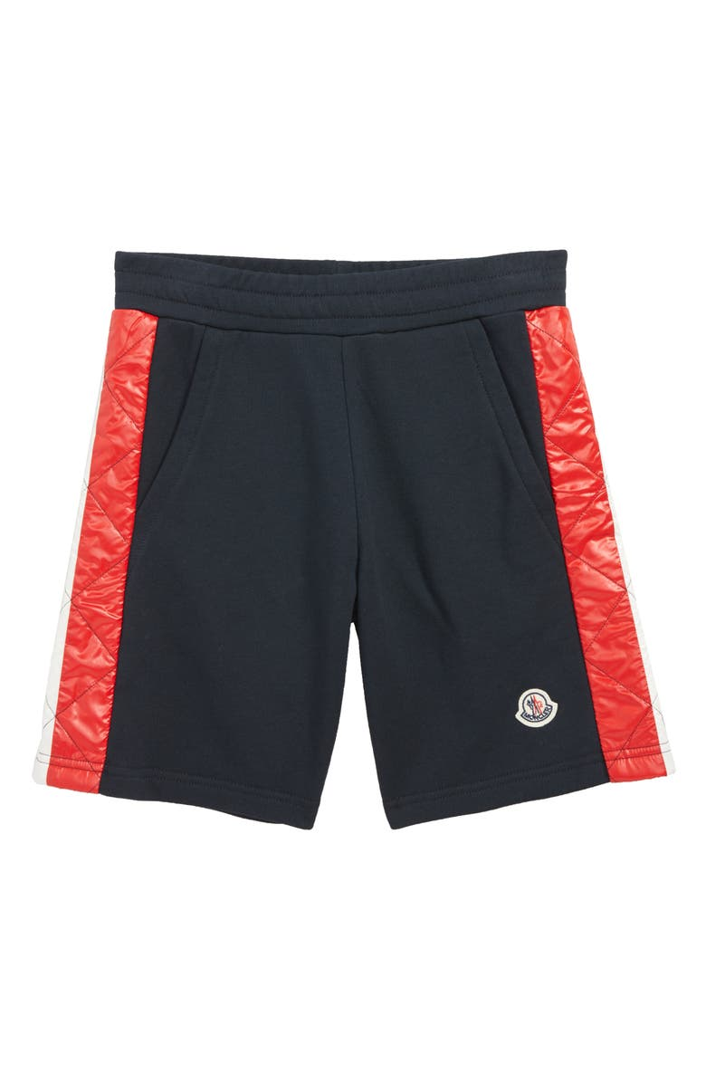 MONCLER Pantalone Corto Sweat Shorts, Main, color, NAVY