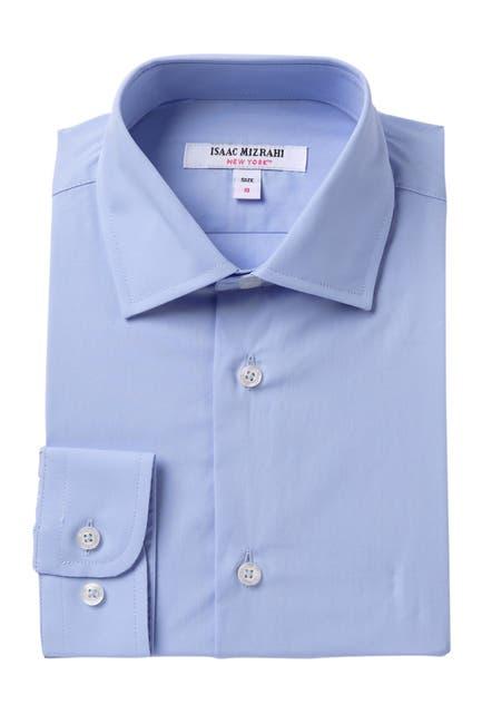 Image of Isaac Mizrahi Solid Button Up Shirt