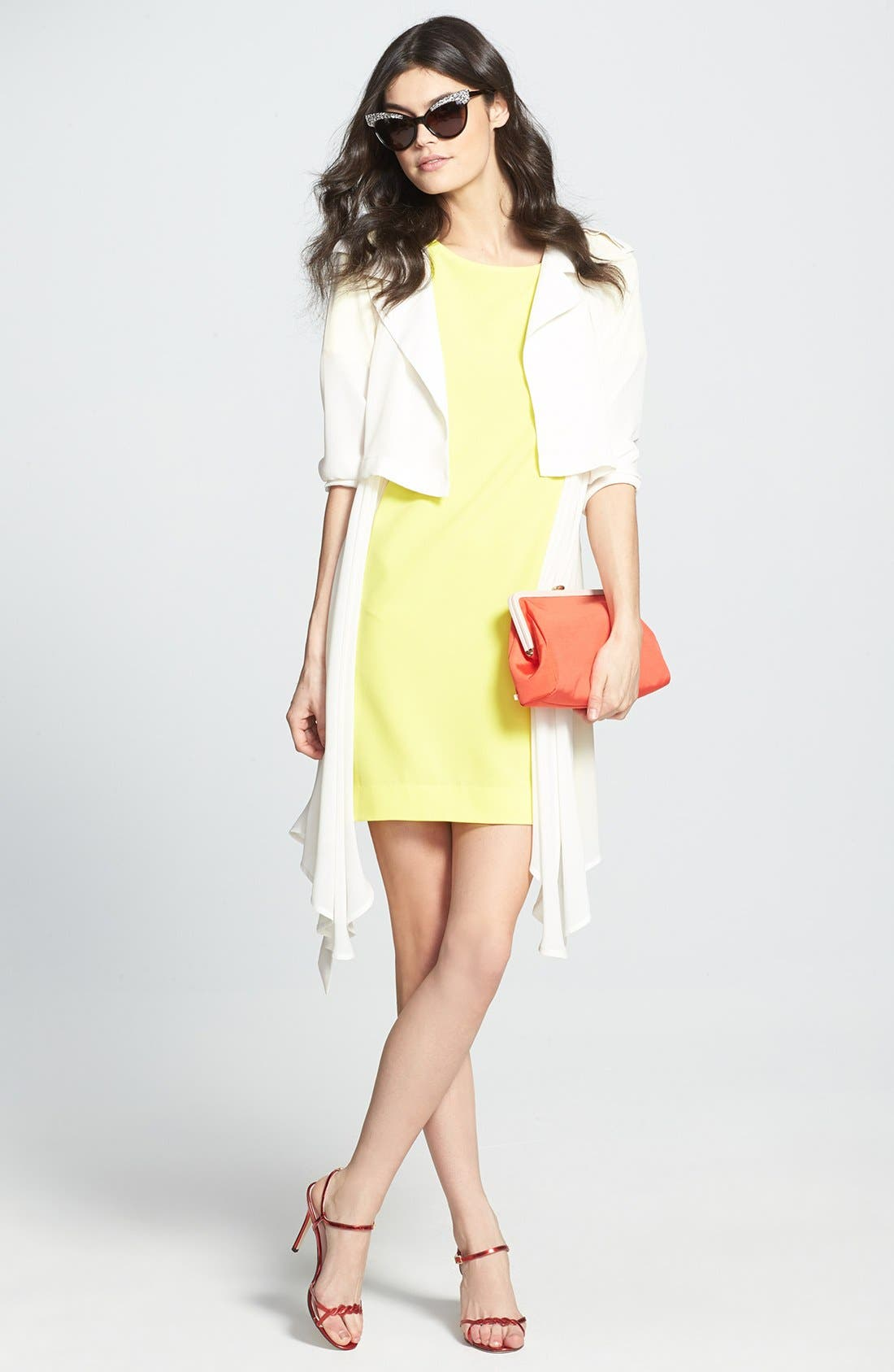 ,                             Crepe Shift Dress,                             Alternate thumbnail 19, color,                             720