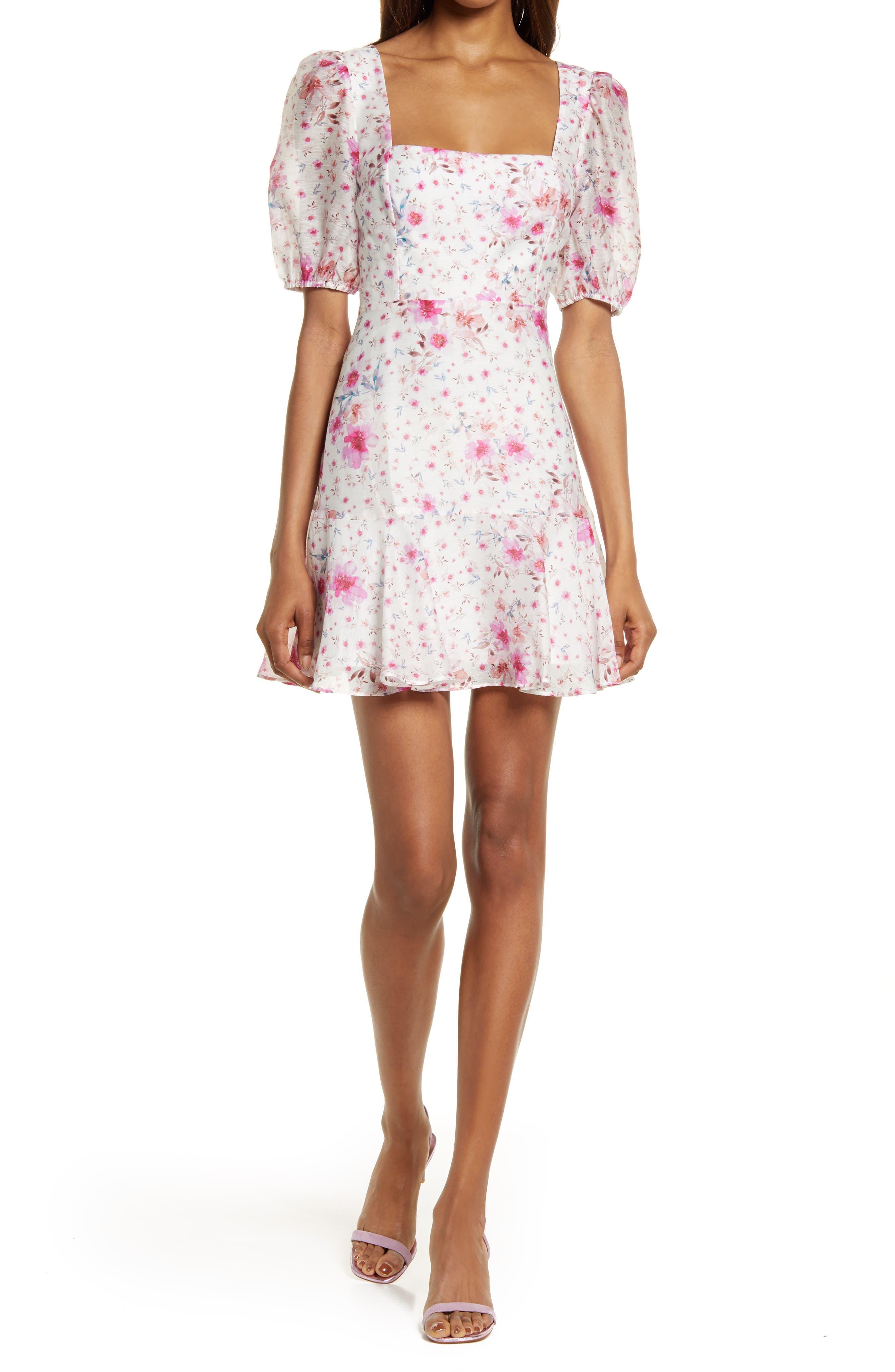 Heather Puff Sleeve Minidress