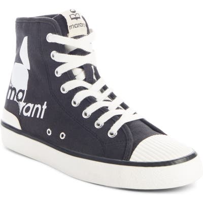 Isabel Marant Benkeen High Top Sneaker, Black