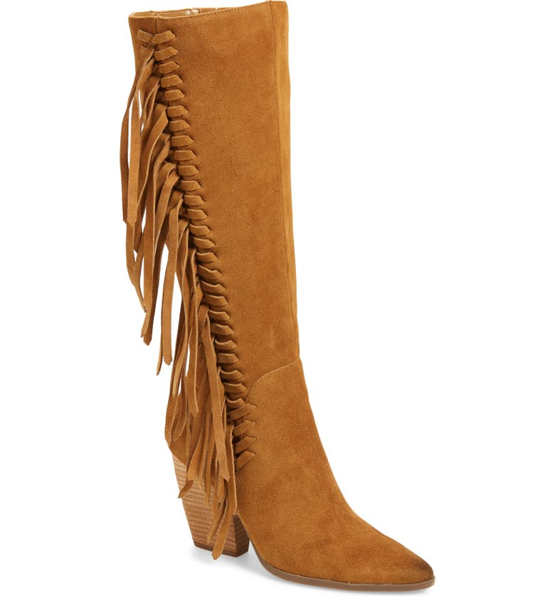 CHARLES BY CHARLES DAVID Nitro Fringe Knee High Boot, Main, color, BISCOTTI SUEDE