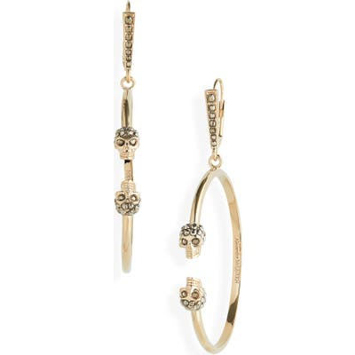Alexander Mcqueen Creolo Skull Hoop Earrings
