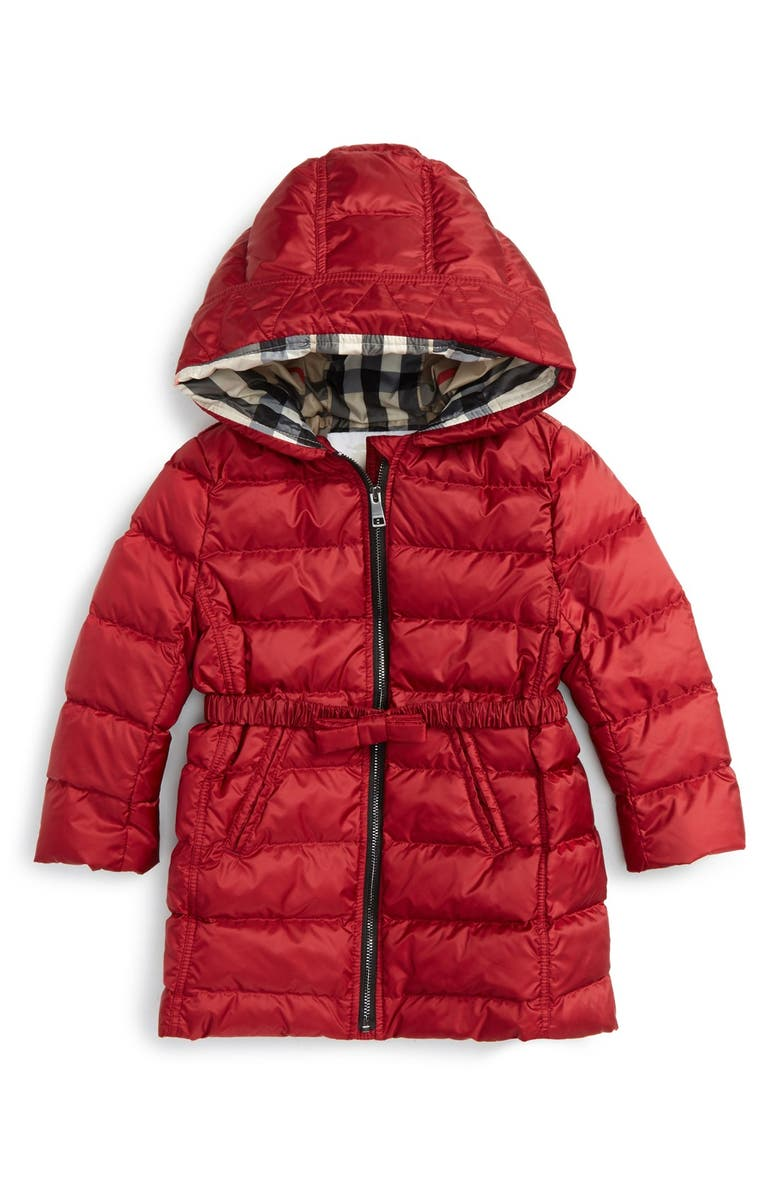 Burberry Catherine Bow Detail Down Puffer Jacket Baby