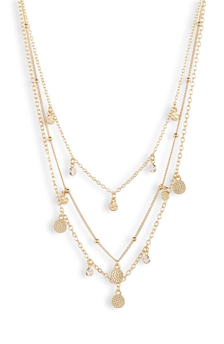 ETTIKA Multistrand Necklace, Main, color, GOLD