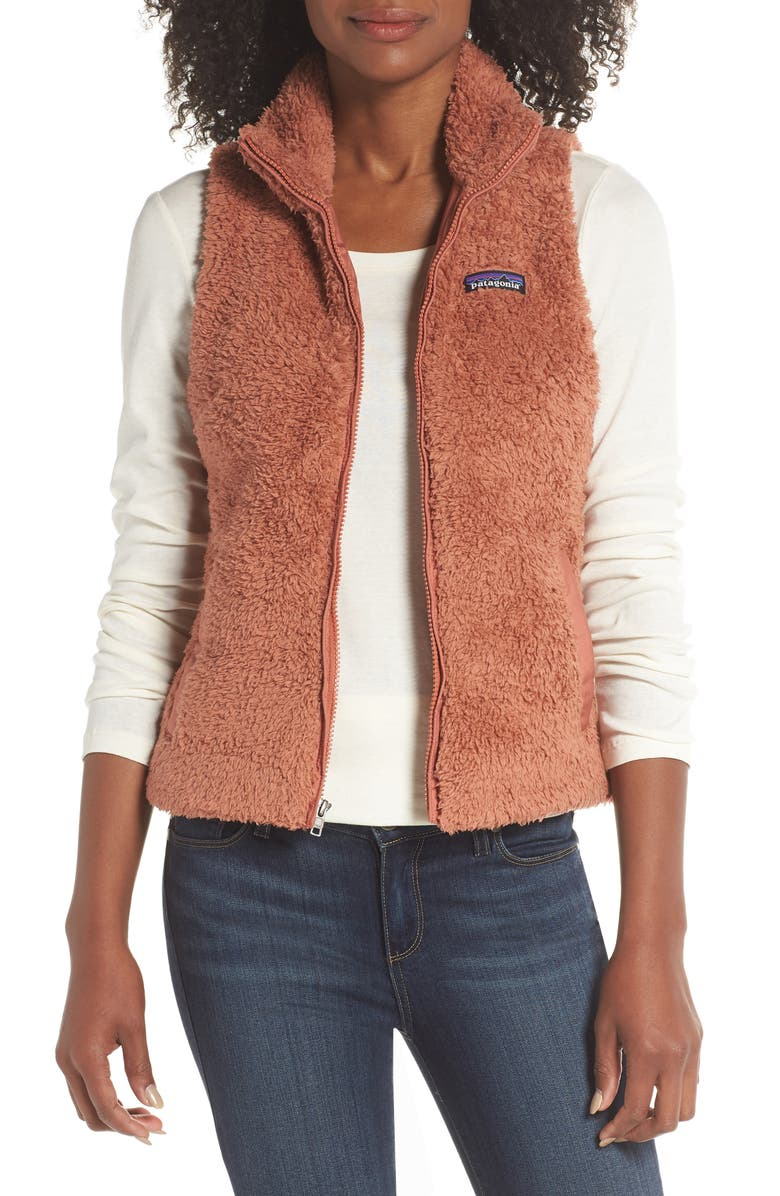 PATAGONIA Los Gatos Fleece Vest, Main, color, CENTURY PINK