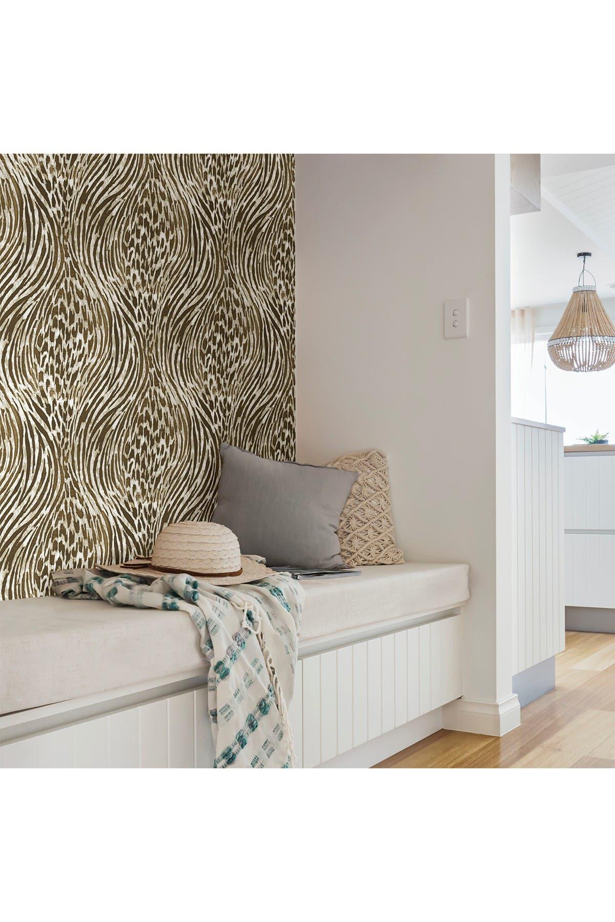 Image of WallPops! Brown & Gold Fierce Peel & Stick Wallpaper