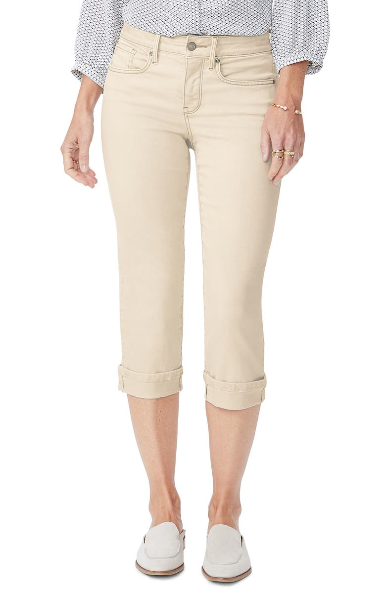 NYDJ Marilyn Crop Jeans, Main, color, FEATHER