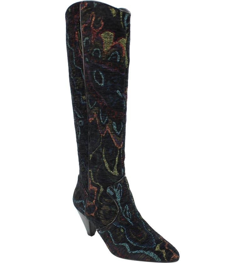 J. RENEÉ J.Renée Valoria Western Boot, Main, color, BLACK PRINT FABRIC
