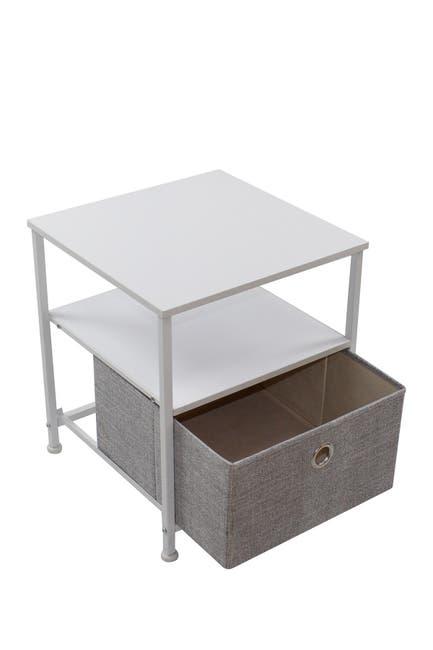 Image of Sorbus White 1 Drawer Table Dresser