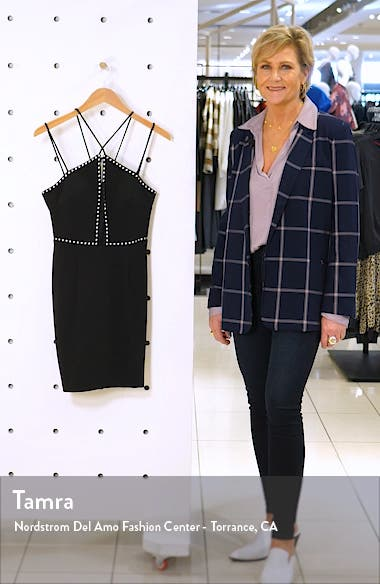 Cross Front Studded Body-Con Dress, sales video thumbnail