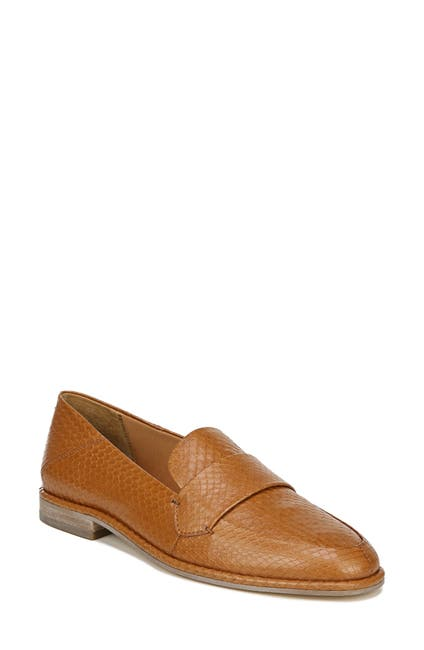Image of SARTO BY FRANCO SARTO Harleen Leather Snakeskin Embossed Loafer