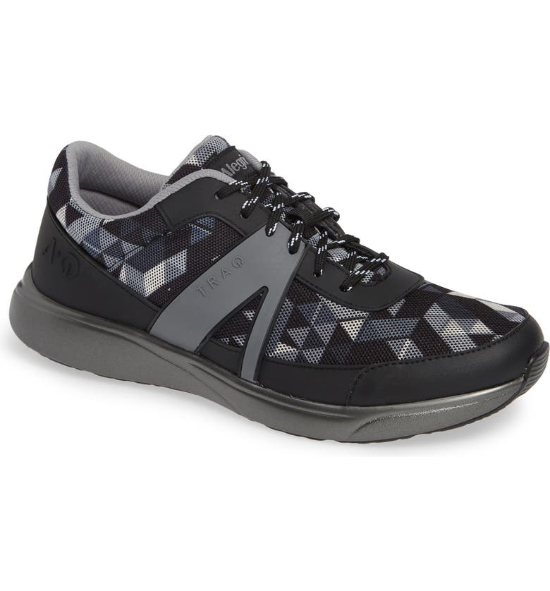 ALEGRIA Qarma Sneaker, Main, color, BLACK ANGLE LEATHER