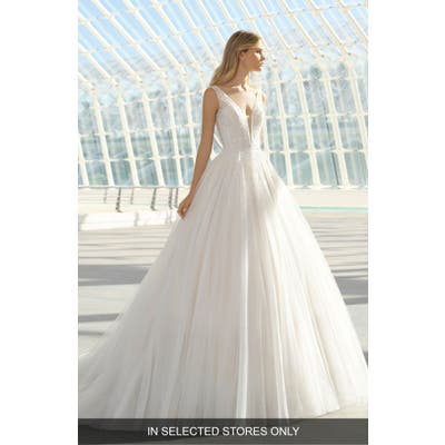 Rosa Clara Dillan Beaded Tulle Gown