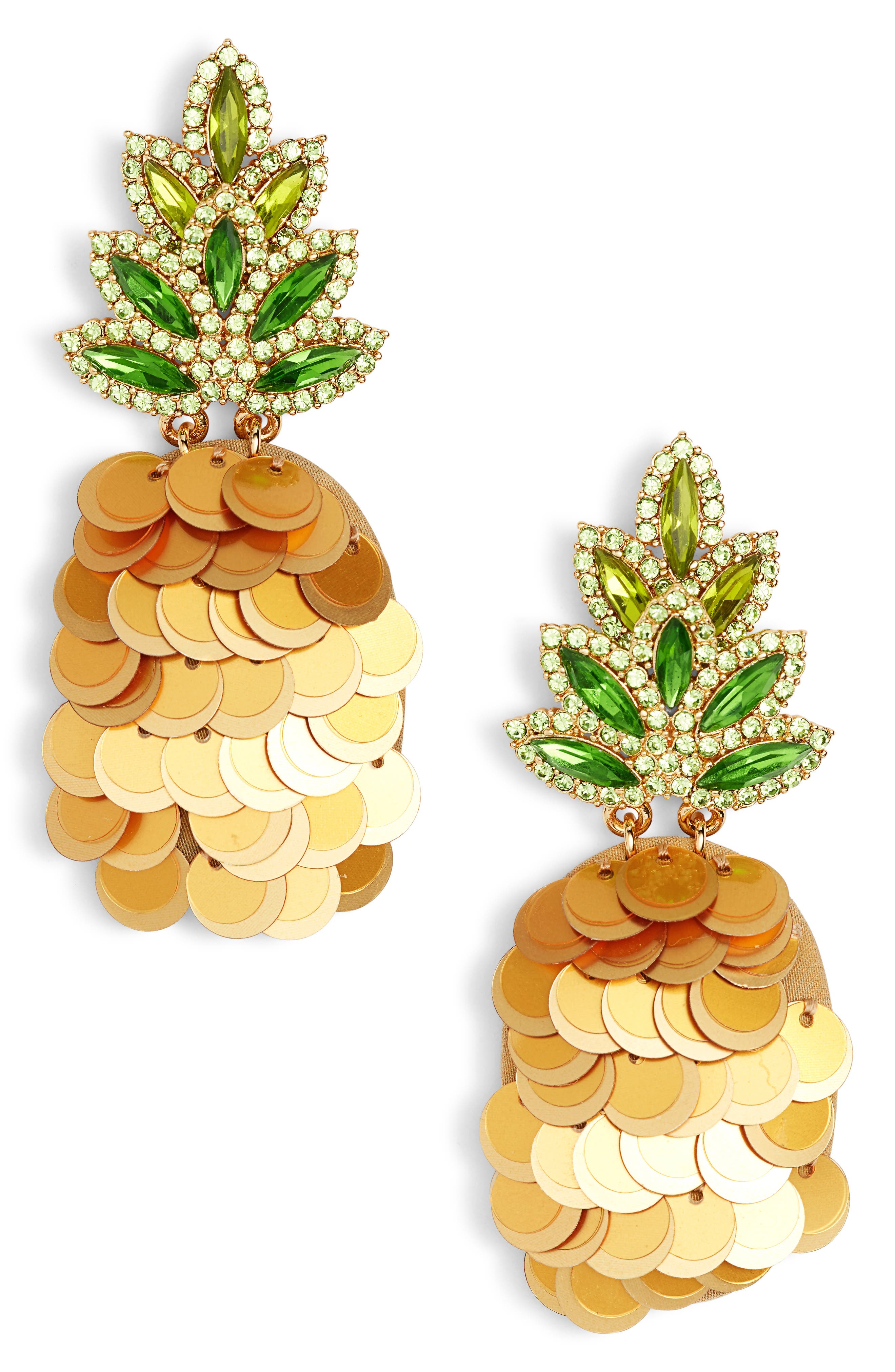 Image of kate spade new york by the pool pineapple statement stud earrings
