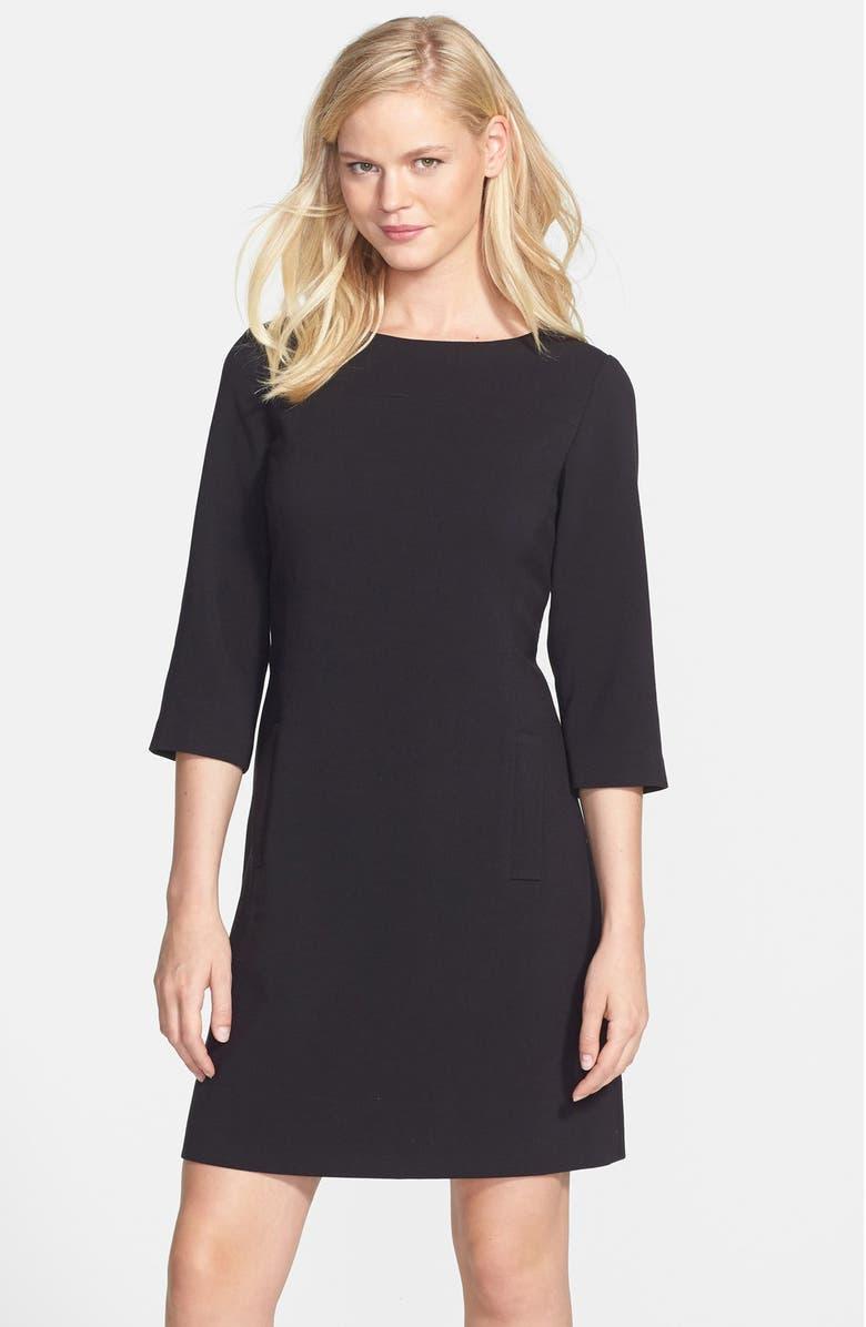 ELIZA J Knit Shift Dress, Main, color, 001