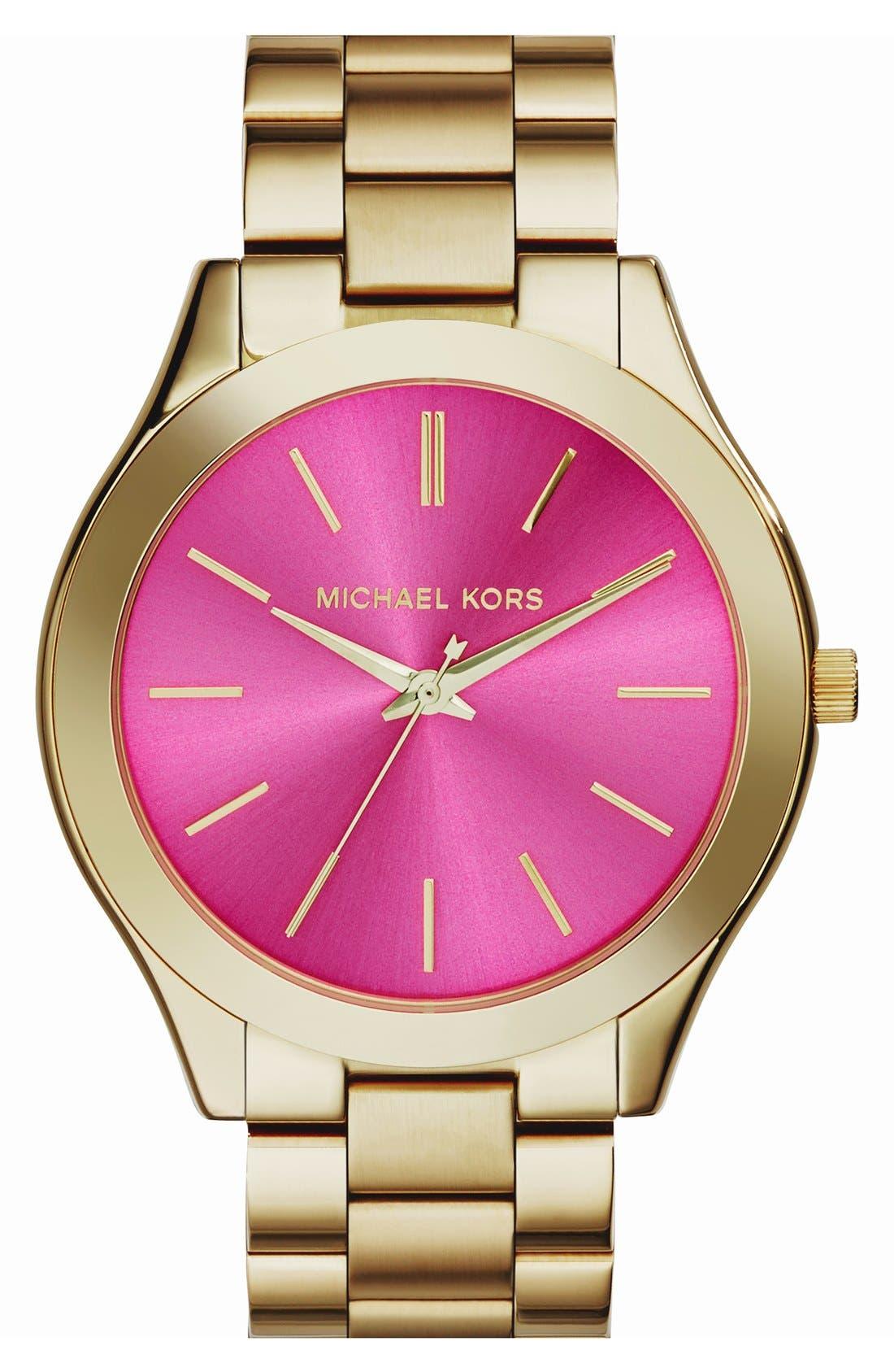 ,                             'Slim Runway' Bracelet Watch, 42mm,                             Main thumbnail 52, color,                             714