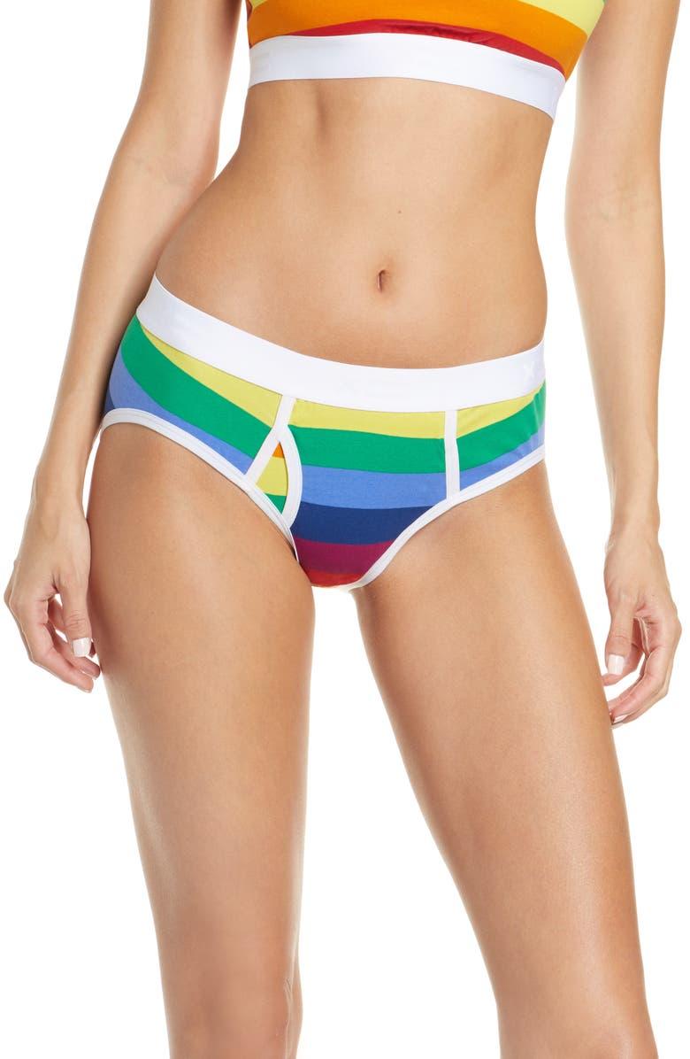 TOMBOYX Rainbow Pride Iconic Brief, Main, color, RAINBOW