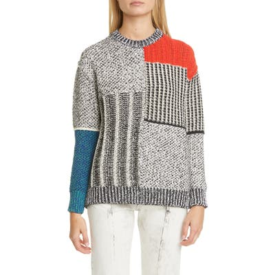 Stella Mccartney Mixed Texture Sweater, 6 IT - Grey