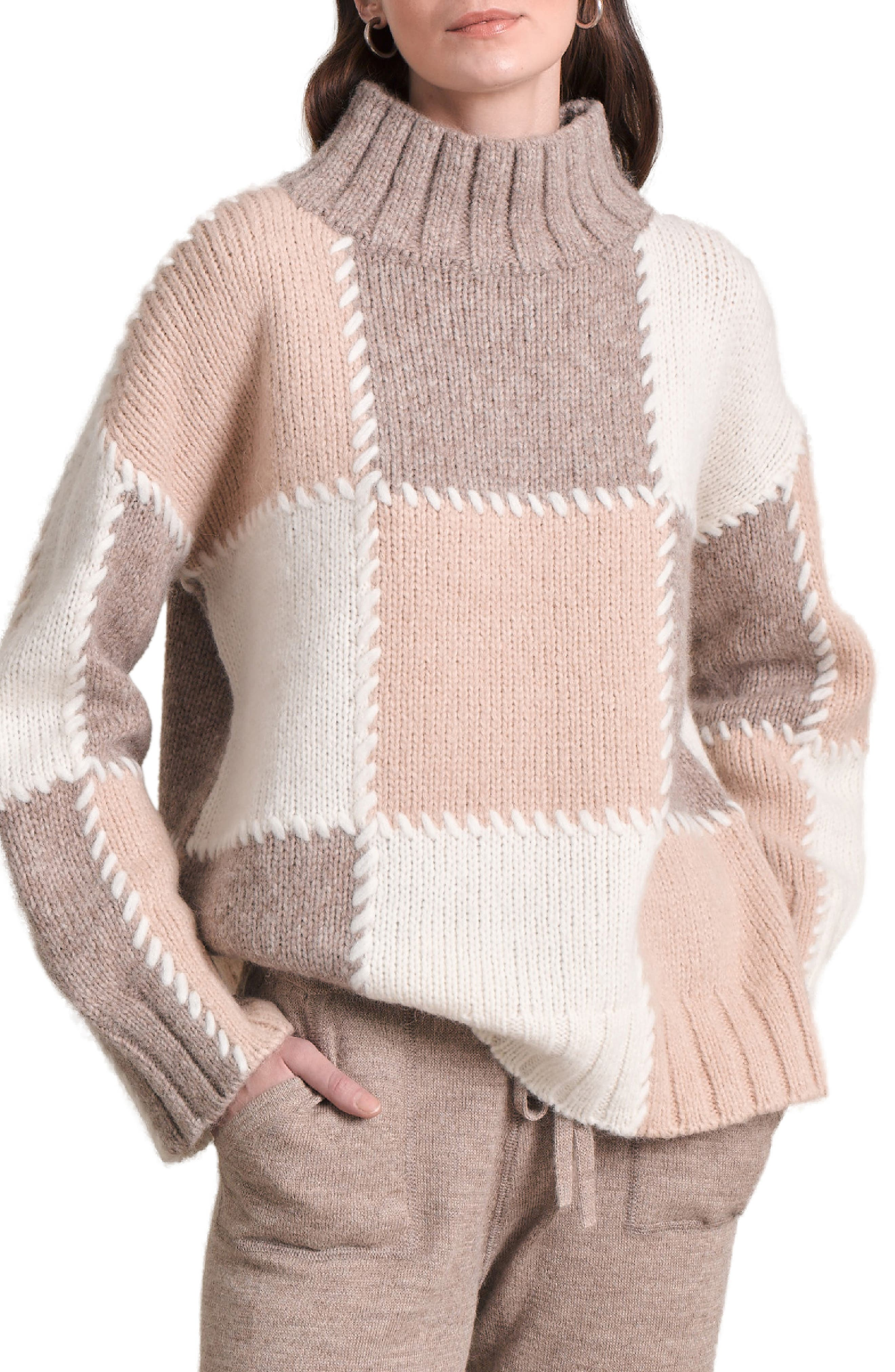 Nardia Colorblock Alpaca Blend Sweater