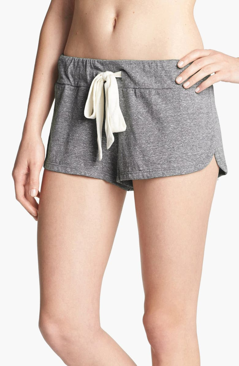EBERJEY Heather Knit Shorts, Main, color, GREY HEATHER