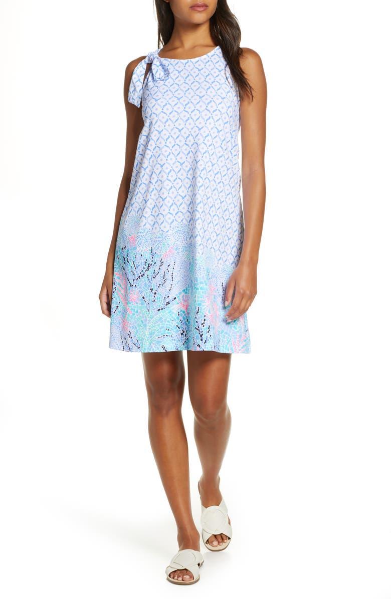 LILLY PULITZER<SUP>®</SUP> Luella Tie Strap Shift Sundress, Main, color, 499