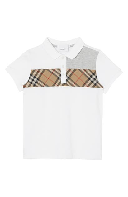 Burberry Boys' Jeff Polo Shirt - Little Kid, Big Kid In White