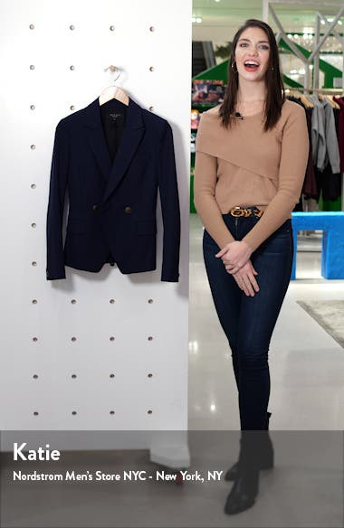 Fletcher Wool Blend Twill Blazer, sales video thumbnail