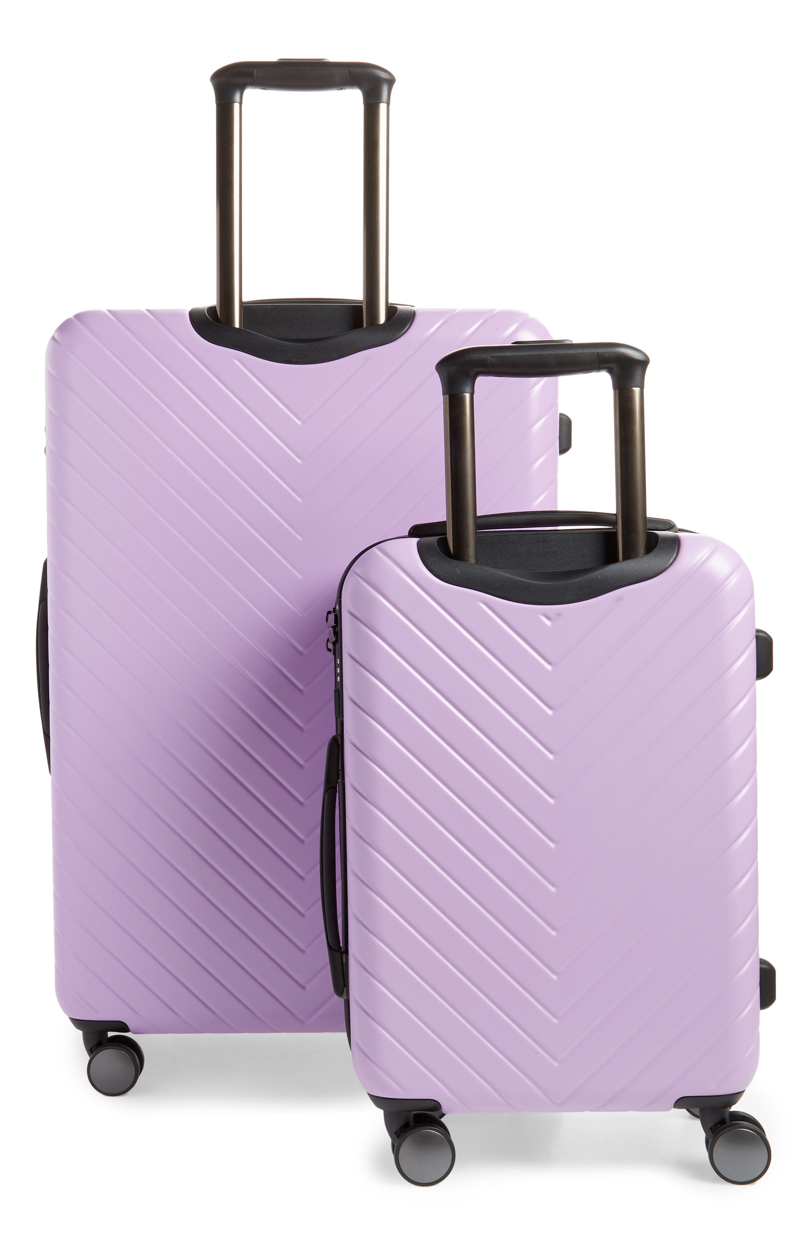 ,                             Chevron 29-Inch & 18-Inch Spinner Luggage Set,                             Alternate thumbnail 4, color,                             LAVENDER SWEET