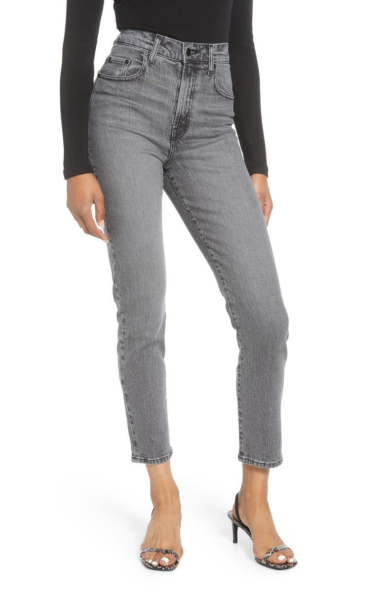 NOBODY DENIM Frankie Comfort High Waist Slim Ankle Jeans, Main, color, SECRETIVE